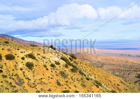 High Desert terrain at over 4,000 feet in elevation overlooking the Mojave Desert taken in Tehachapi Pass, CA