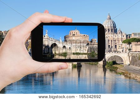 Tourist Photographs Castel Sant Angelo In Rome