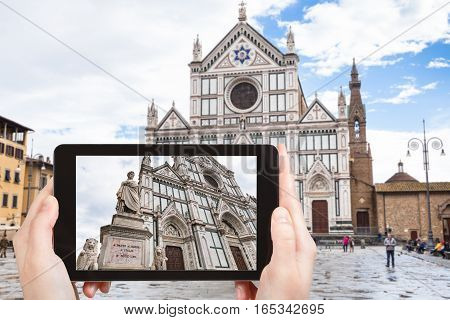 Tourist Photographs Basilica Di Santa Croce