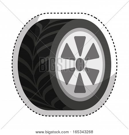 car tire isolated icon vector illustration design