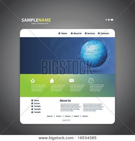 Business website template in editable vector format