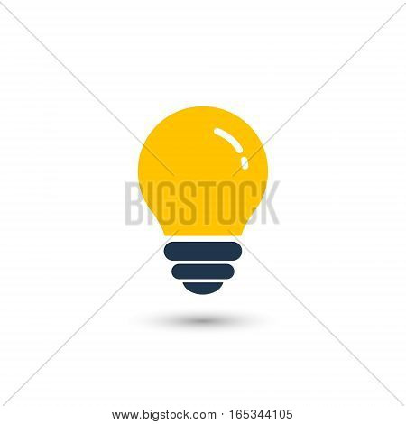 Bulb icon on white background. Vector illustration.
