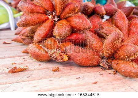 sala fruit of Thailand on the wooden table.