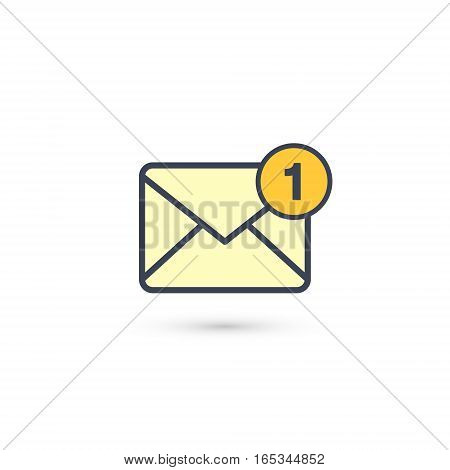 New incoming message envelope with one notification vector.