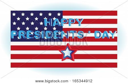 PRESIDENTIAL DAY. Congratulations. Symbols of the United States. Design postcards, flyers, greeting occasion.