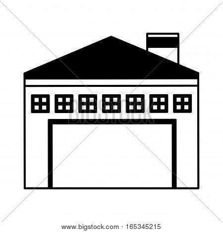 garage building isolated icon vector illustration design