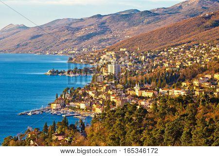 Opatija Riviera Bay And Coastline View