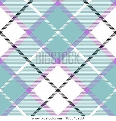 Soft warm plaid baby color seamless pattern diagonal texture. Vector illustration. Flat design. EPS10.