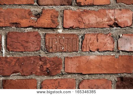 The wall with a lot of bricks