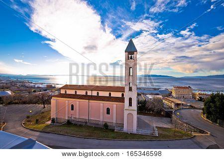 Church And Coastline In Rijeka