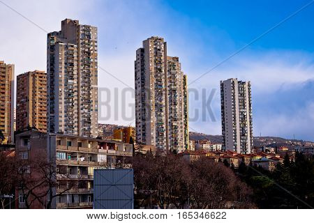 Skyscrapers Of City Rijeka View