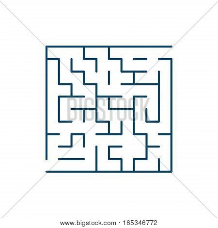 Vector easy labyrinth. Maze or Labyrinth. Vector.