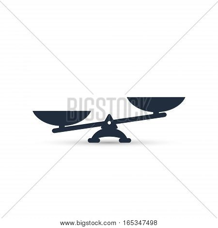 Vector scales Icon isolated on white bacground.