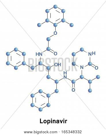 Lopinavir is an antiretroviral of the protease inhibitor class. It is used against HIV infections as a fixed dose combination with another protease inhibitor, ritonavir. It is bound to plasma proteins
