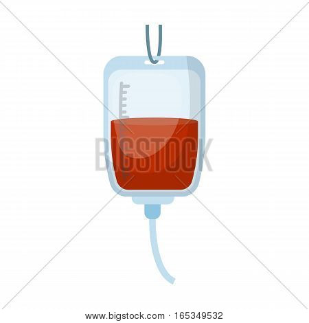 Blood donation icon in cartoon design isolated on white background. Charity and donation symbol stock vector illustration.