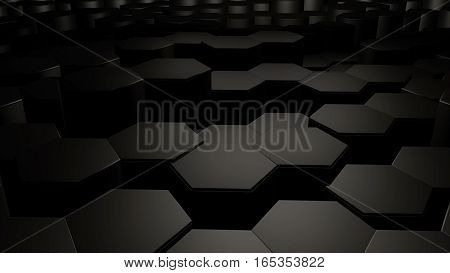 Abstract Hexagon Background.