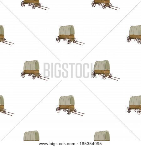 Cowboy wagon icon cartoon. Singe western icon from the wild west cartoon. - stock vector