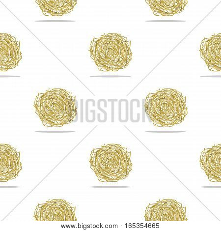 Tumbleweed icon cartoon. Singe western icon from the wild west cartoon. - stock vector