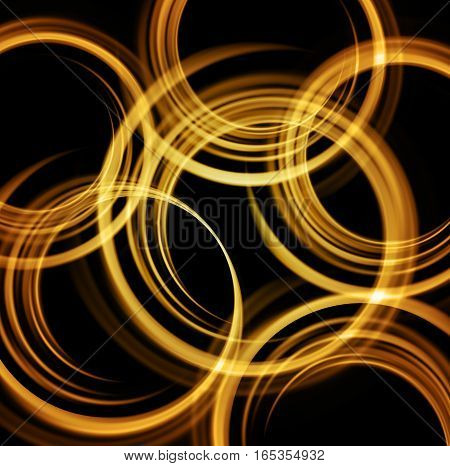 Vector Shiny background with color blurred circle