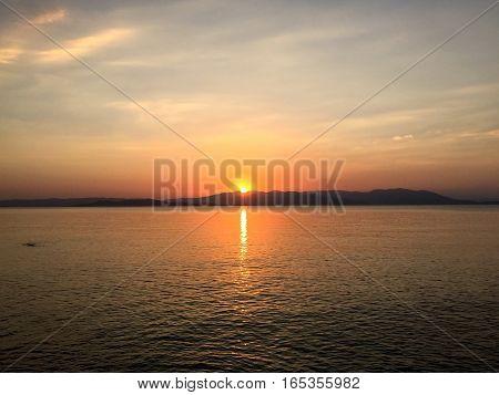 Sunrise in the Mediterranean. Athens, Greece Sunrise in the Mediterranean. Athens, Greece