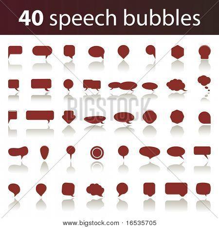 40 Speech Bubbles