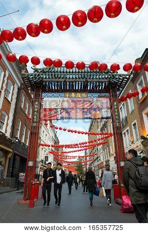Chinatown In London England