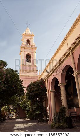 Salta, Argentina - October 31, 2016: Cloister of Cathedral in Salta (Argentina)