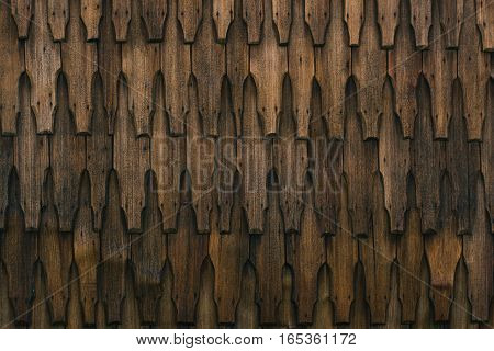 traditional church wood wall from transilvania, romania