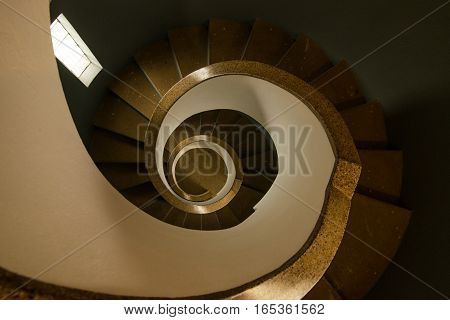 Generic spiral staircase of lighthouse in Porgtugal