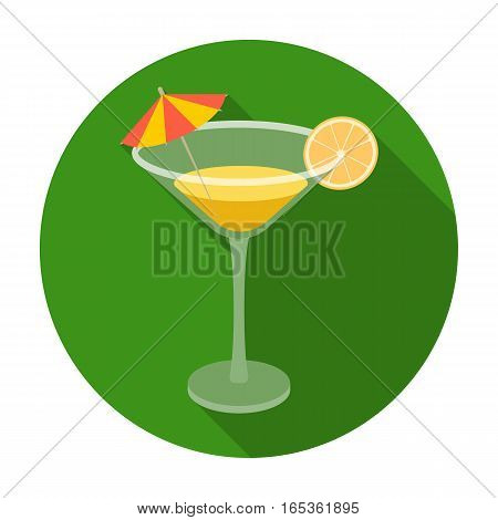 Lemon cocktail icon in flat design isolated on white background. Brazil country symbol stock vector illustration.