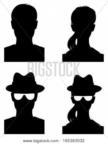 Avatar profile picture. Vector illustration. Isolated on white background. Set