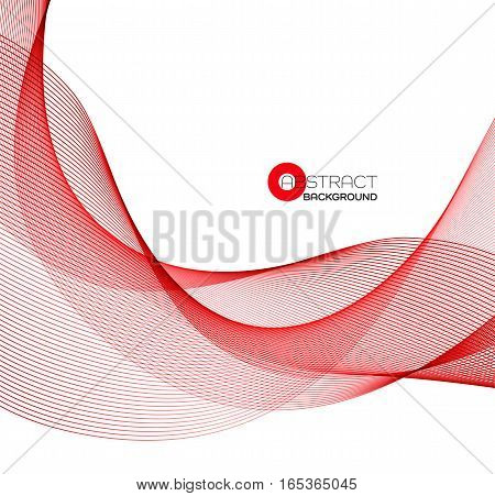 Vector Abstract color red wave design element.