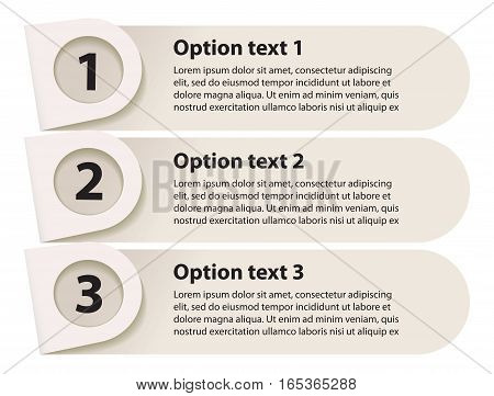 Minimal infographics. Sequence number. Vector illustration. Isolated on white background. Set