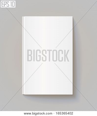 Blank book cover. Vector illustration. Eps 10