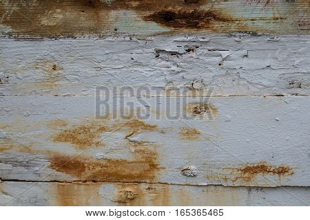 Chipped White Paint with Rust Background Image