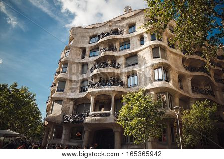 Barcelona, Spain - 03 May 2016: Architecture Of Barcelona. Traveling In Europe