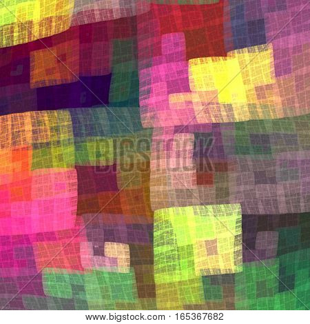 Multicolor colorful checkered pattern for the fabric handkerchief blankets bedspreads bed linen. Fractal bandanna pattern design3.