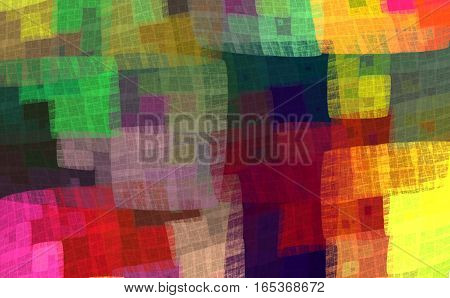 Multicolor colorful checkered pattern for the fabric handkerchief blankets bedspreads bed linen. Fractal bandanna pattern design