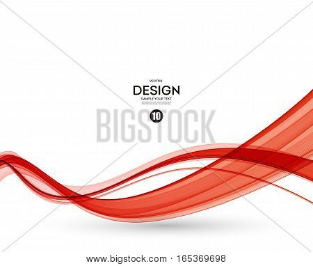 Abstract smooth color wave vector. Curve flow red motion illustration. Red wave. Red wavy lines. Red smoke wave. Vector red wave line. Red smoky line. Wavy red banner. Abstract red wavy lines