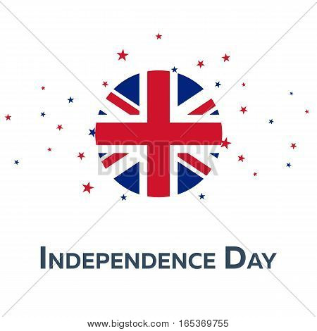 Independence Day Of United Kingdom. Patriotic Banner. Vector Illustration.