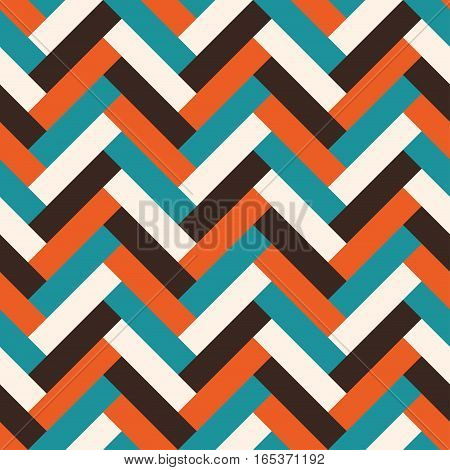 Vector seamless abstract geometric tile mid century style pattern.