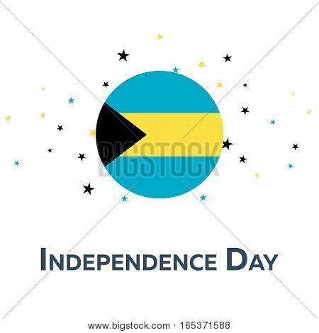Independence Day Of Bahamas. Patriotic Banner. Vector Illustration.