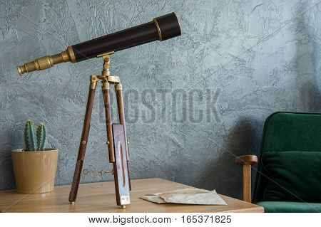 Telescope On The Table