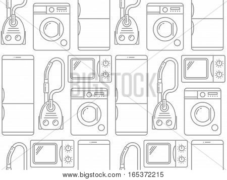 Seamless pattern of household electronics. Vector illustration.