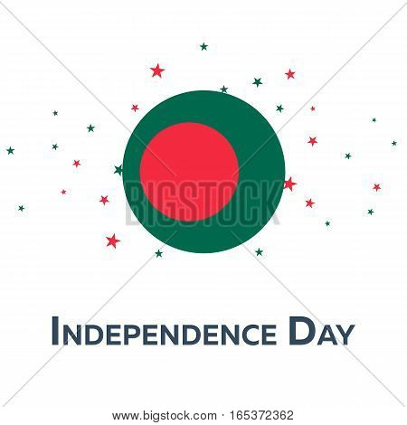 Independence Day Of Bangladesh. Patriotic Banner. Vector Illustration.