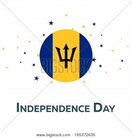 Independence Day Of Barbados. Patriotic Banner. Vector Illustration.