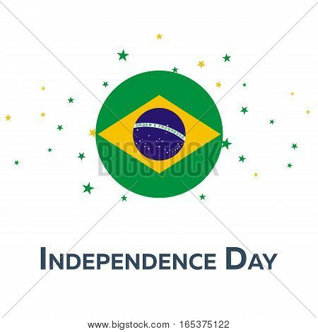 Independence Day Of Brazil. Patriotic Banner. Vector Illustration.