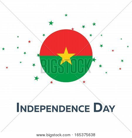 Independence Day Of Burkina Faso. Patriotic Banner. Vector Illustration.