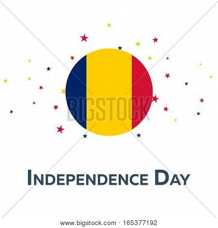 Independence Day Of Chad. Patriotic Banner. Vector Illustration.