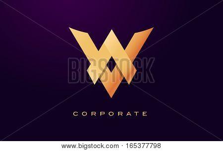 Letter V Logo. V Letter Design Vector with Golden Colors and Modern Design.